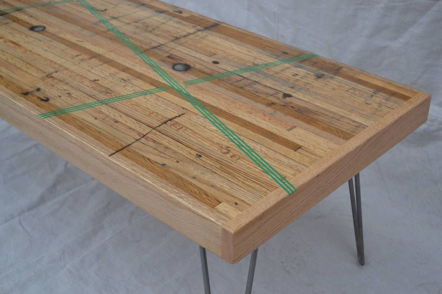 Coffee Table Reclaimed Oak W Green Resin Inlay Resin Coffee And Wood Table