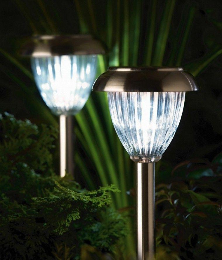 Accesorios jardin adornos muebles y luces de exterior Iluminacion para jardines energia solar