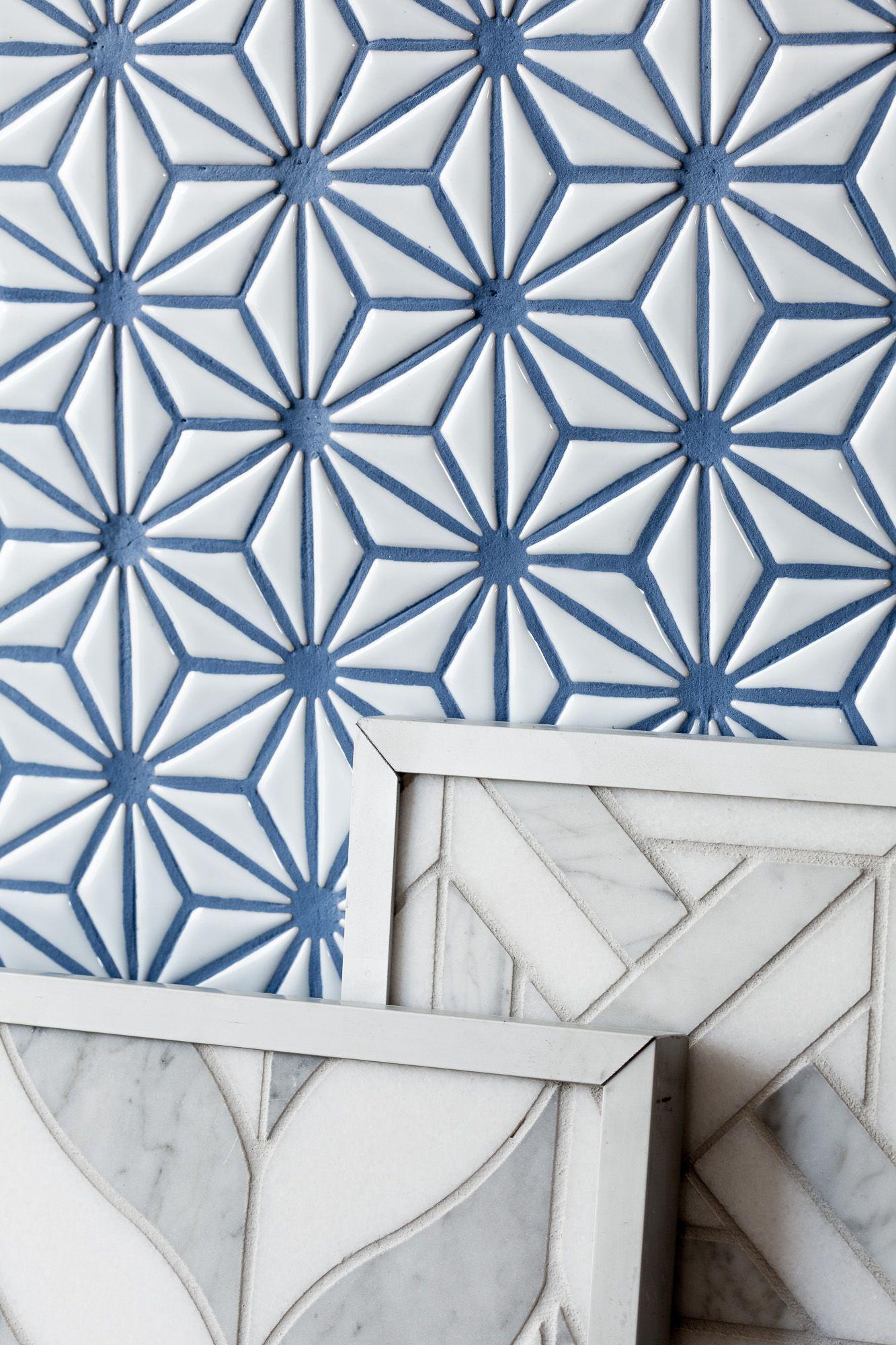 Starburst Mosaic With Blue Grout Byzantine Design Gallery