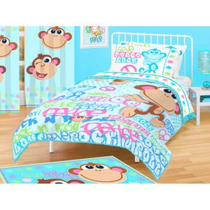 American Kids Monkey Comforter Twin Full Neat Things