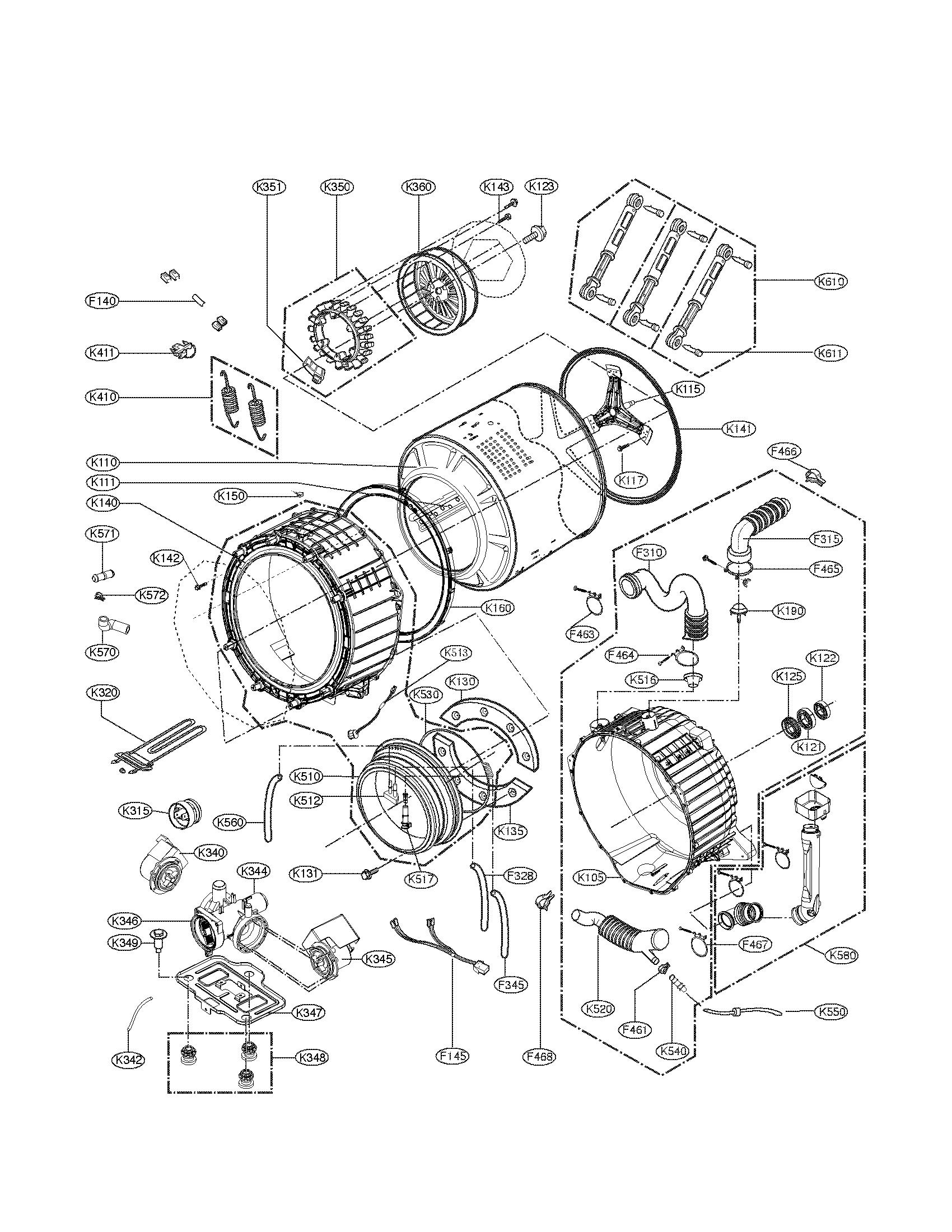lg washer parts model wm3875hvca sears partsdirect lg washerlg washer parts model wm3875hvca sears partsdirect [ 1700 x 2200 Pixel ]