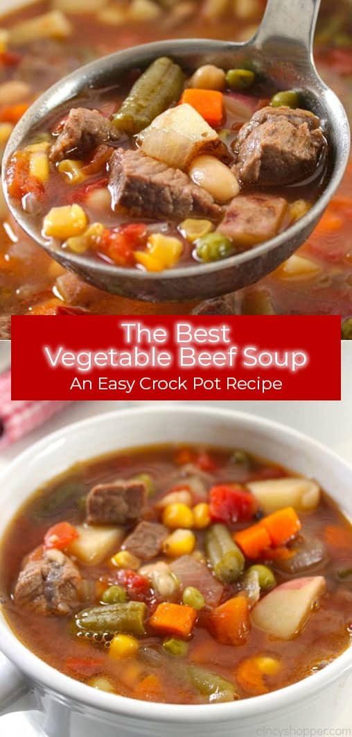 Make This Slow Cooker Vegetable Soup For Dinner Tonight Recipe Beef Soup Slow Cooker Beef Soup Recipes Soup Recipes Slow Cooker