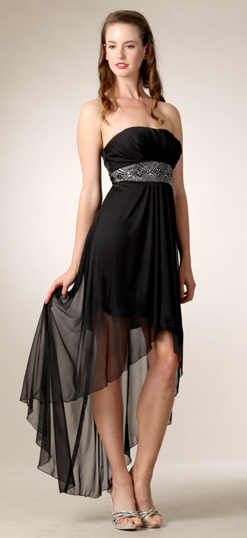 Halter neck black bridesmaid dress flowy short knee length empire