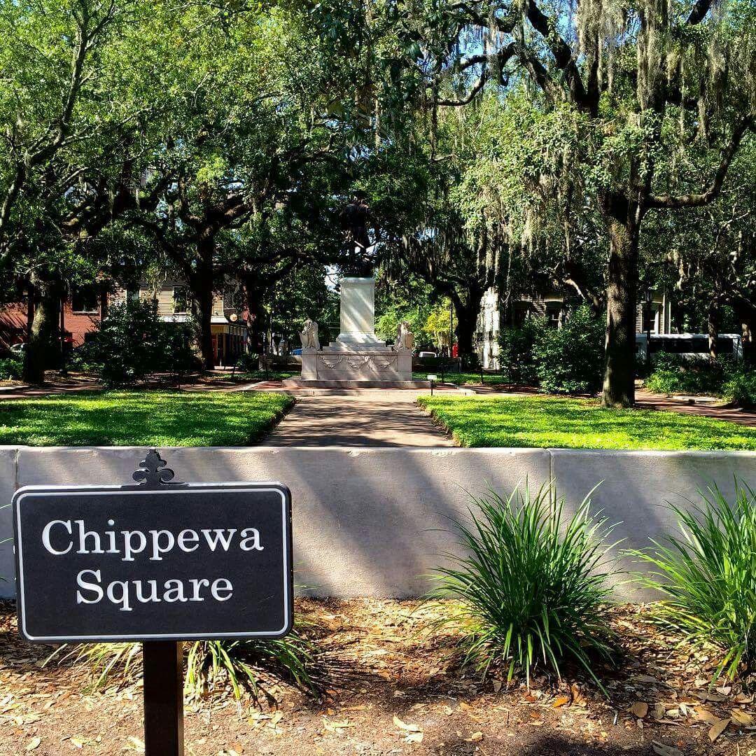 Chippewa Square Savannah Ga Savannah Chat Trip Savannah Ga