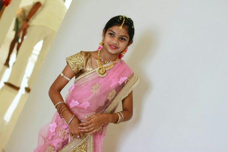 My darling in half saree