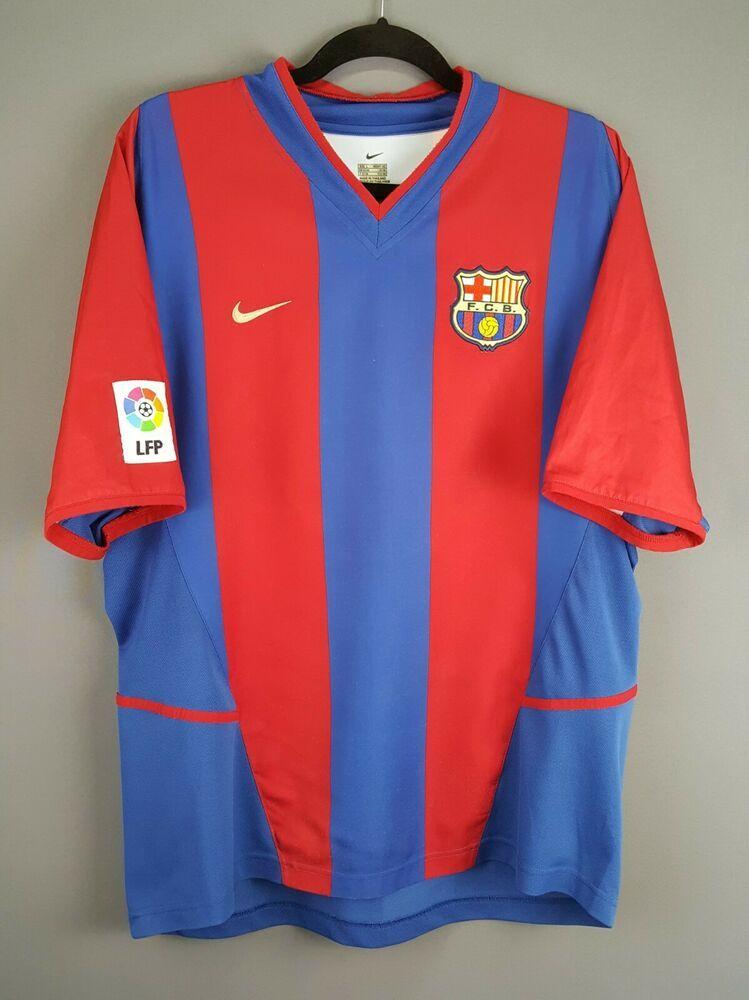 reputable site 0d63b 9267c Advertisement(eBay) 4.5/5 Barcelona jersey large 2002 2003 ...