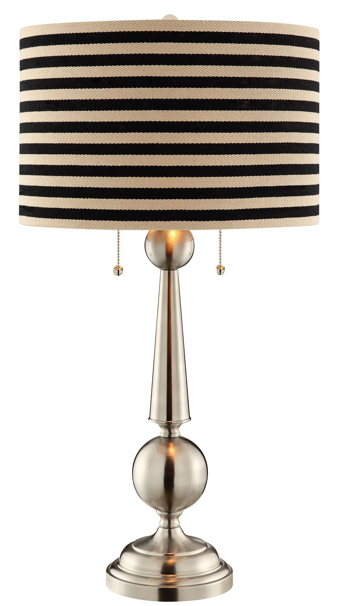 """Swift 29"""" H Table Lamp with Round Shade Lamp, Table lamp"""