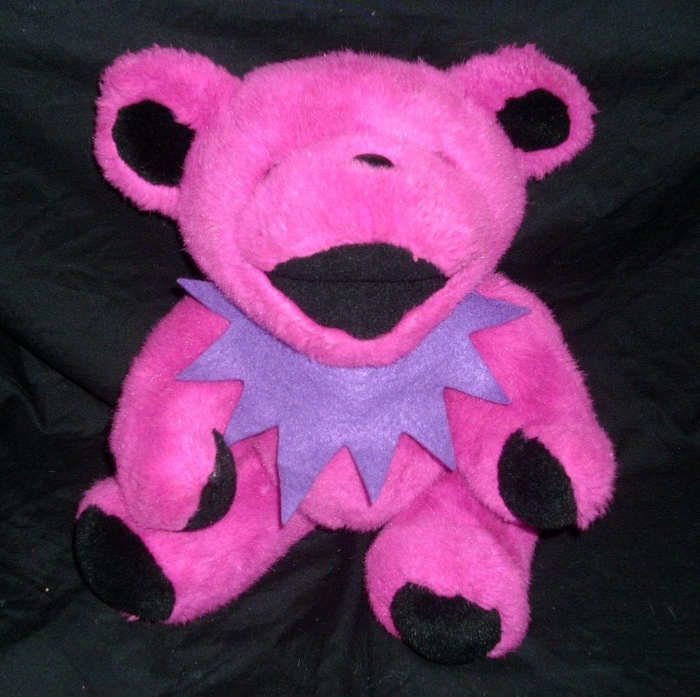 VINTAGE STEVEN SMITH PINK GRATEFUL DEAD TEDDY BEAR STUFFED