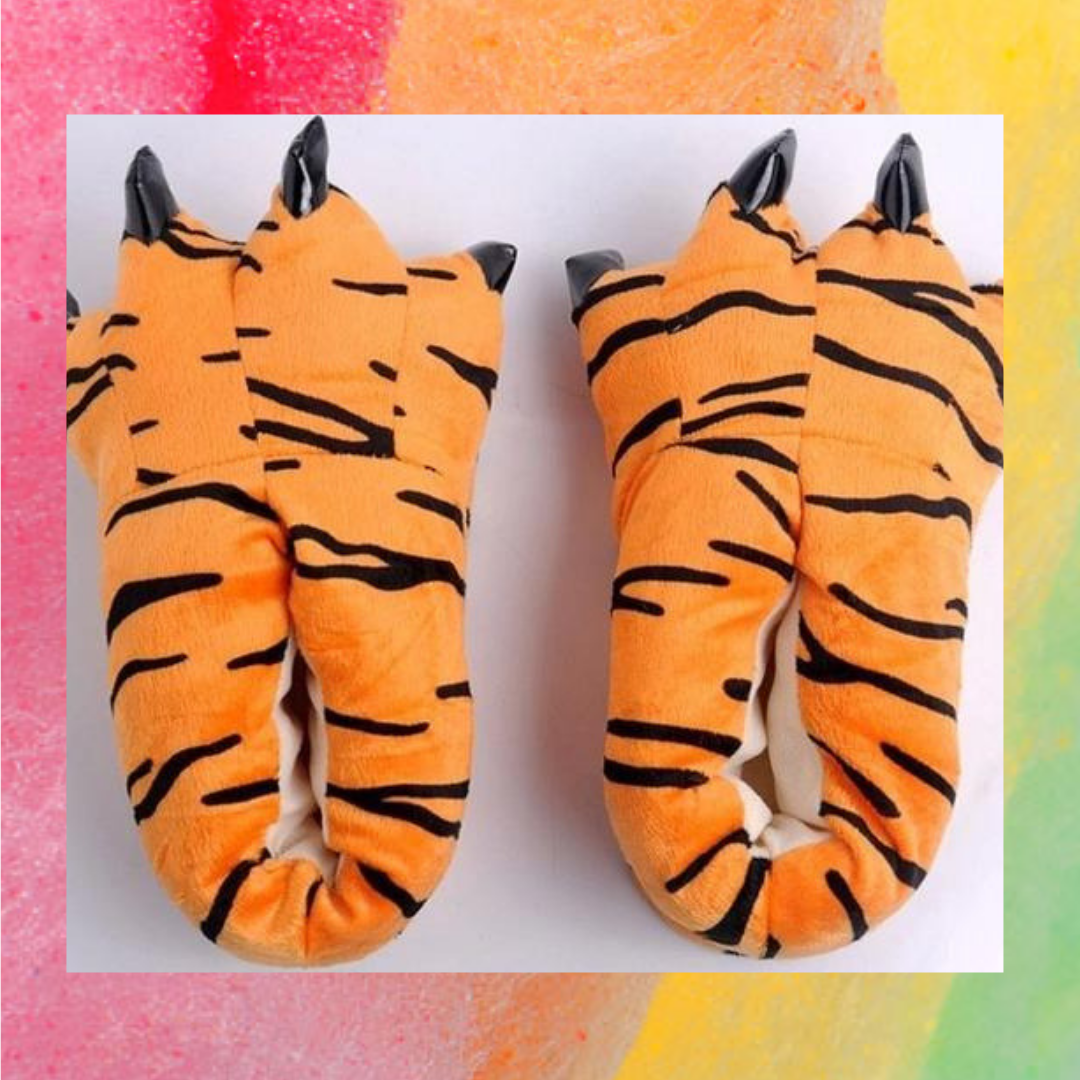 ed681ea7d1cdd Fluffy Dinosaur Foot Slippers in 2019 | Best Of Givemefluff.com ...