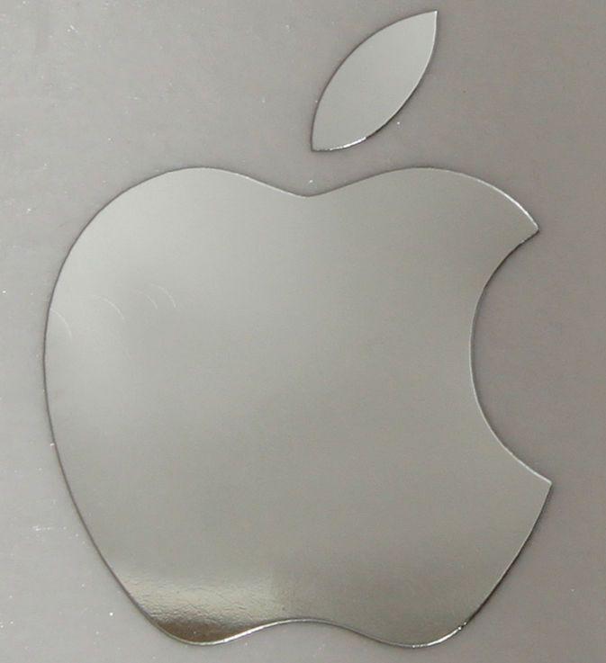 Apple logo chrome metal sticker for iphone 6 plus 6s 5 5c 5s 14x17mm mfg