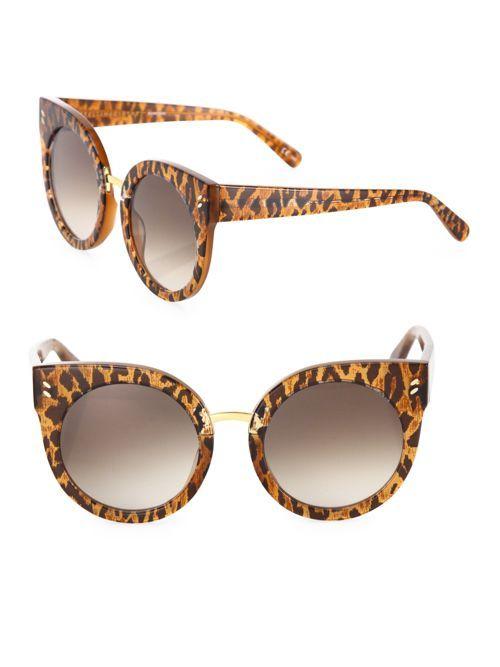 65ebfce77c6a Stella McCartney 51MM Leopard-Print Rounded Cat Eye Sunglasses ...