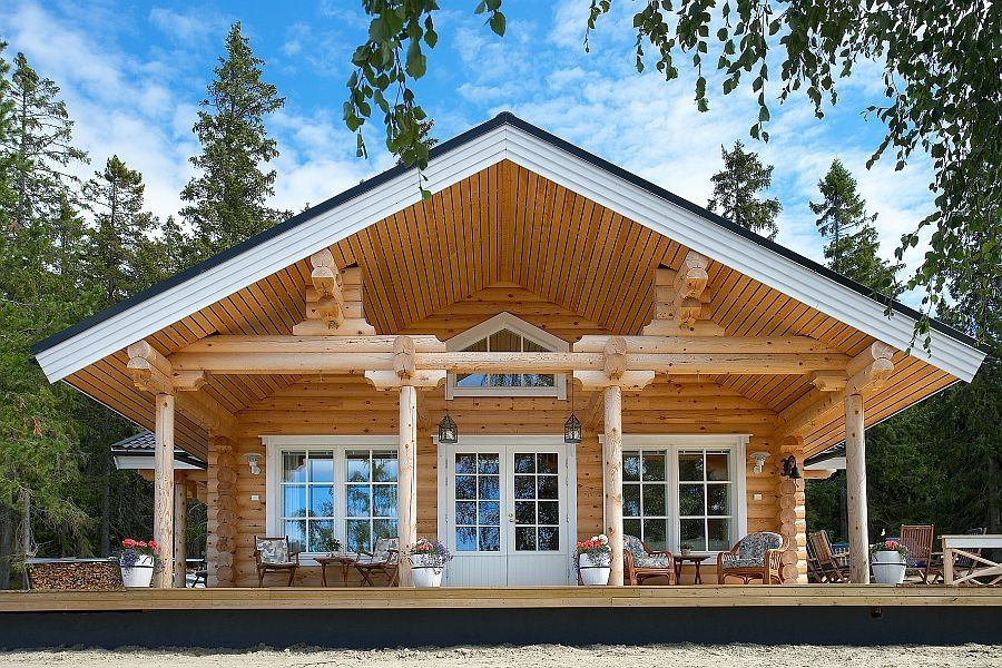 Mokki Onkamo Kuusamo Hirsitalot Ranch Style House Plans Log Homes Log Home Living