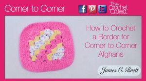 Crochet C2C Border + Tutorial   For Baby/ Children   Crochet