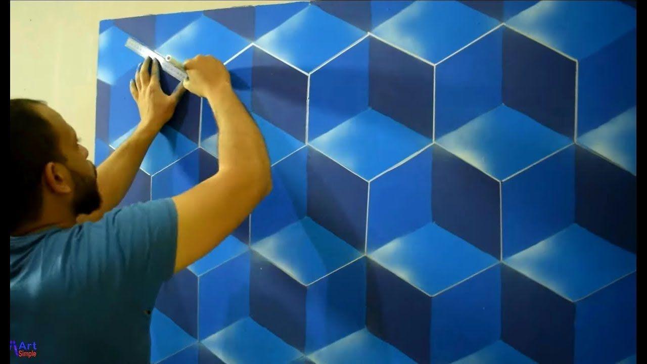 اصنع بنفسك ديكور خليه النحل بقطعه كرتون احمد ثابت 3d Hexagon Design Youtube Home Decor Wall Painting Decor