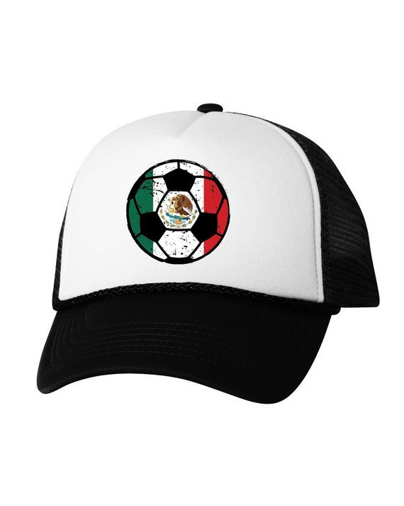 2dd1e614570 Mexico Soccer Ball Trucker Hat Mexican Hats Mexico Soccer Snapback Hat  Mexico 2018 Baseball Cap Gift