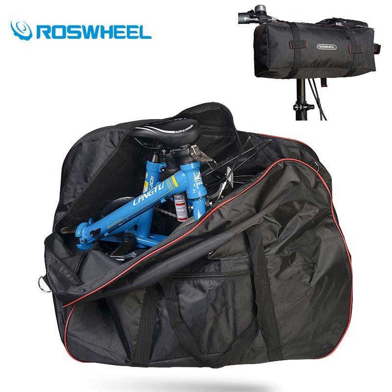 Roswheel Bicycle Bike Bag 14 20 Inches Folding Storage Bag Basket Bicycle Handlebar Saddle Bag Large Stuff Space C Folding Bike Bag Bike Folding Bike