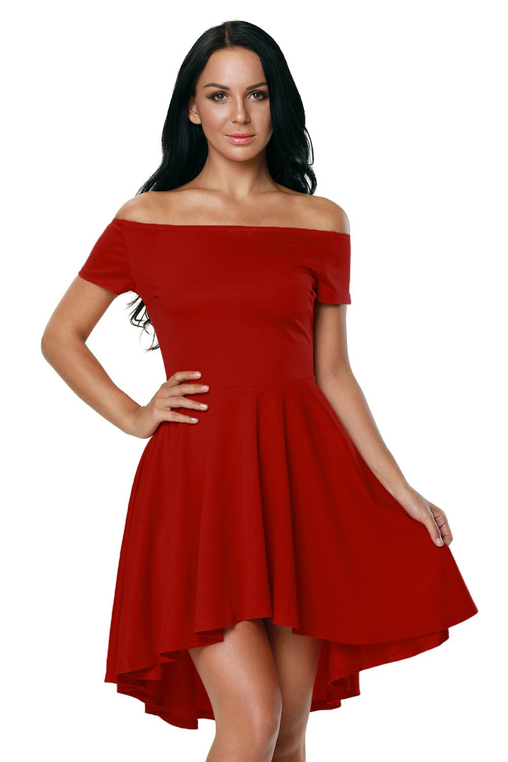 Red All The Rage Hot Skater Dress #silvesteroutfitdamen