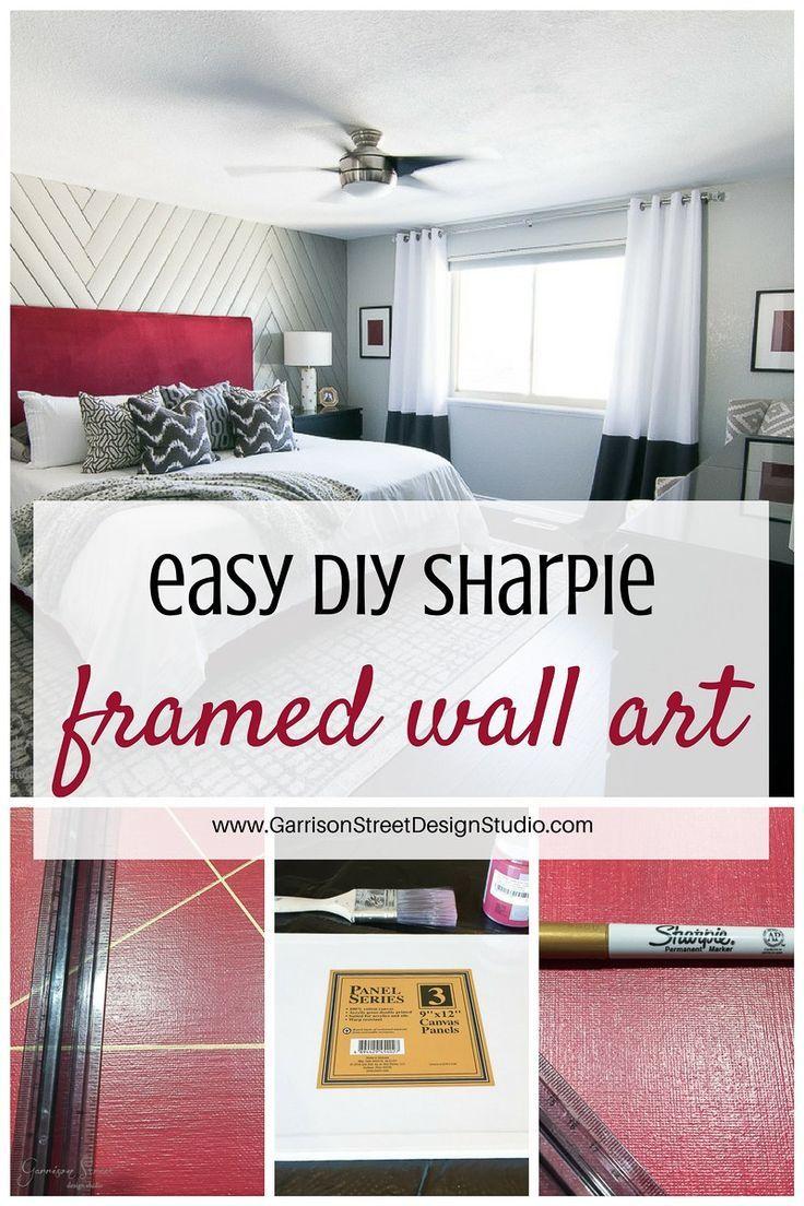 Easy diy sharpie framed wall art pinterest diy framed art