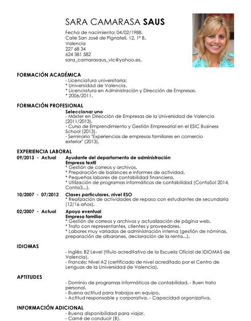 Modelos de Currículum Vítae | Plantilla de CV Gratis | LiveCareer ...