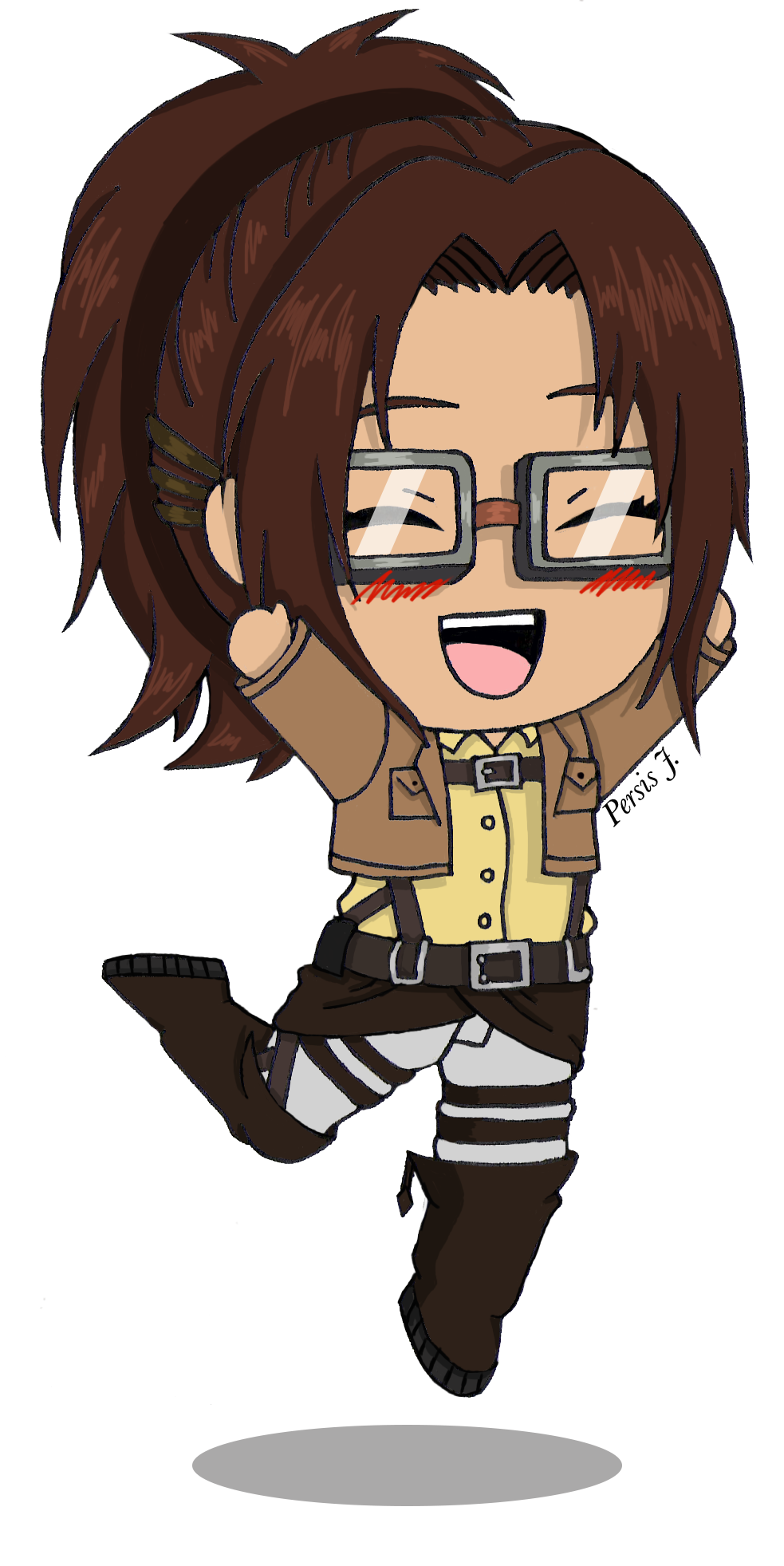 Chibi Hanji by PDJ004 on DeviantArt Chibi, Attack on