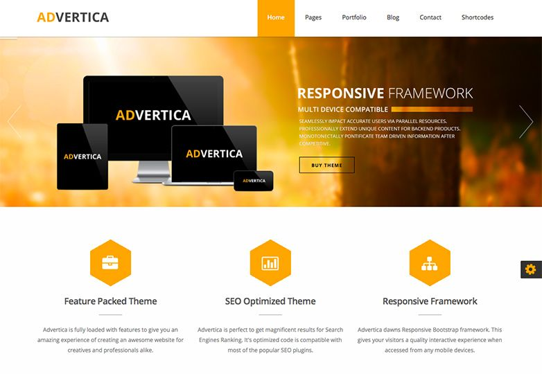 advertica - FREE wordpress theme.