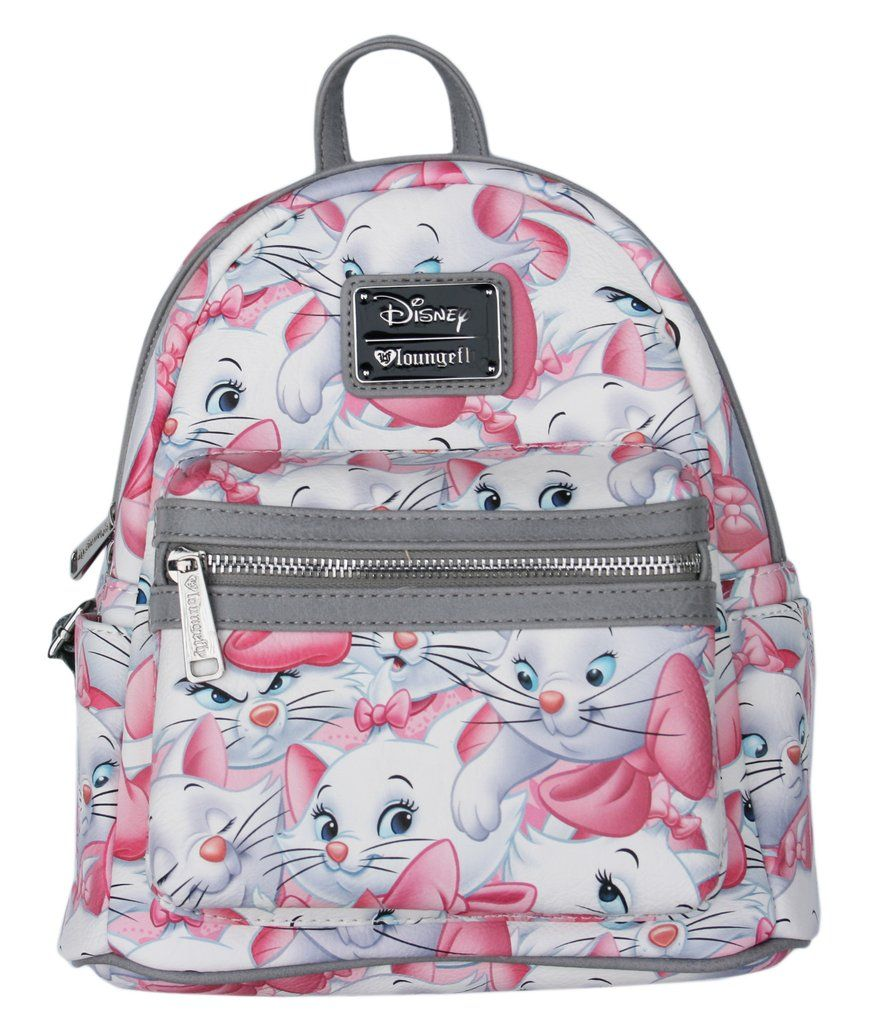 ee2b314d06 Loungefly Disney Marie Aristocats Cat Pink   Grey Mini Backpack Purse –  moodswingsonthenet