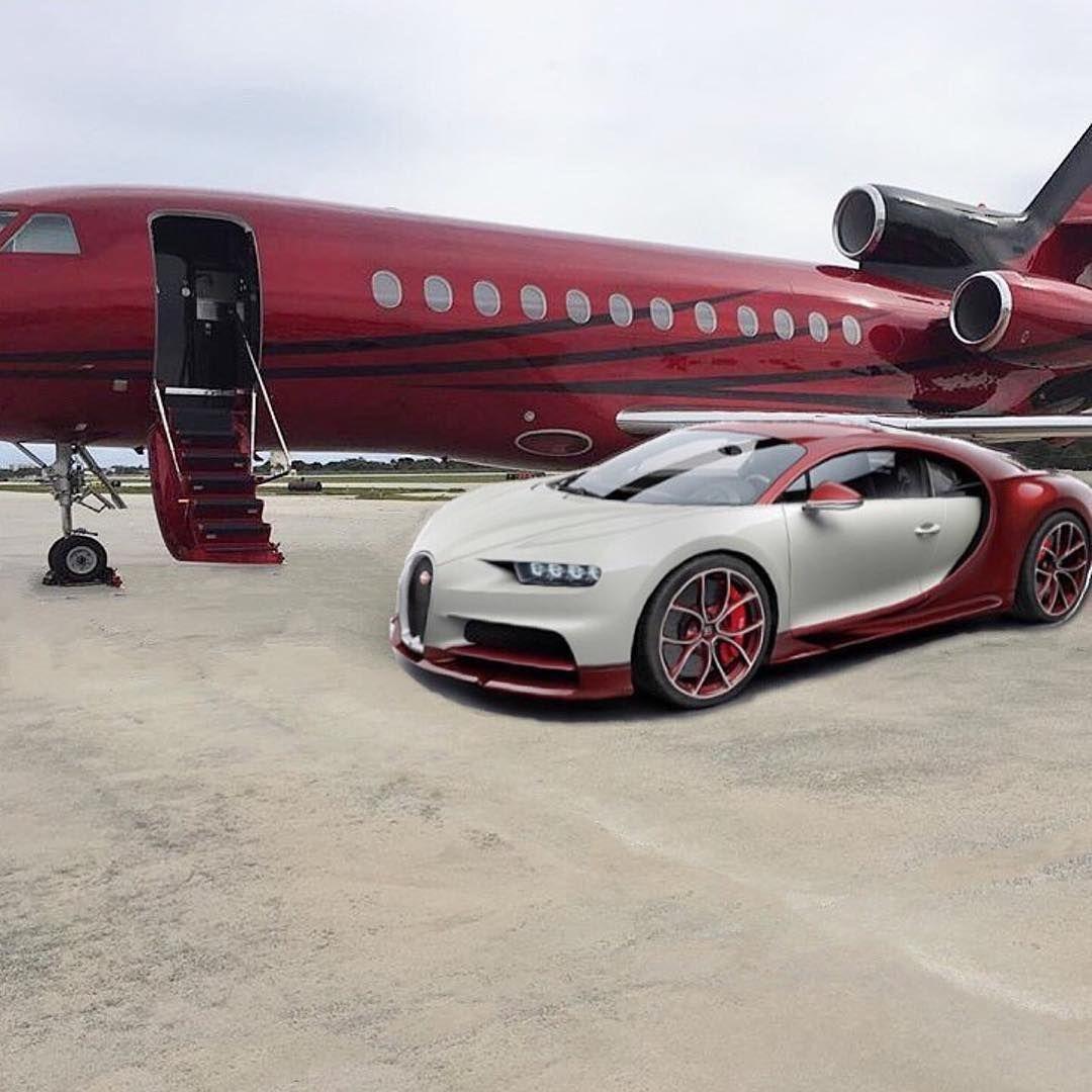 Bugattiveyron Bugattichiron Bugatti Car Airplane Business Jet