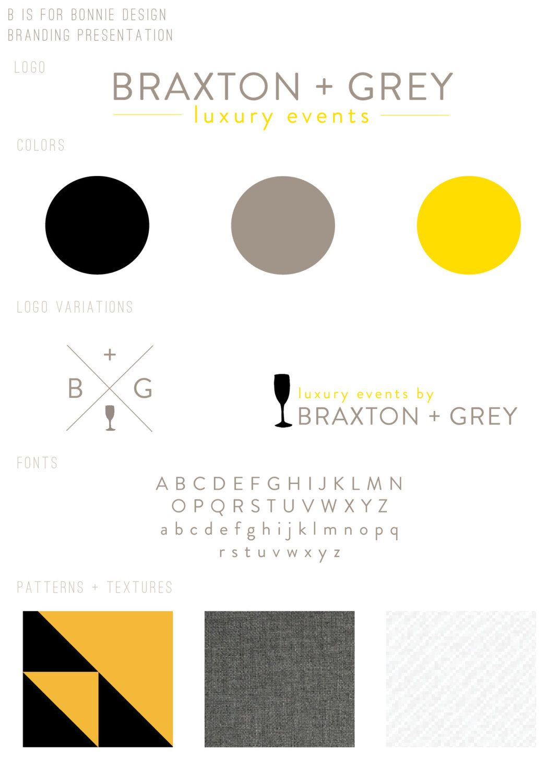 braxton grey brand identity custom branding package web elements stationery design