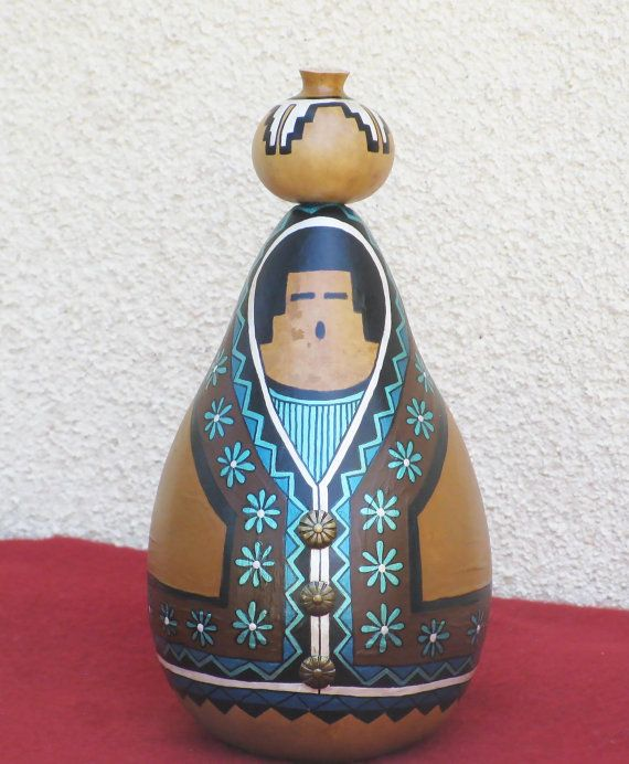 Hey, I found this really awesome Etsy listing at https://www.etsy.com/listing/230282574/southwestern-hand-painted-gourd-717