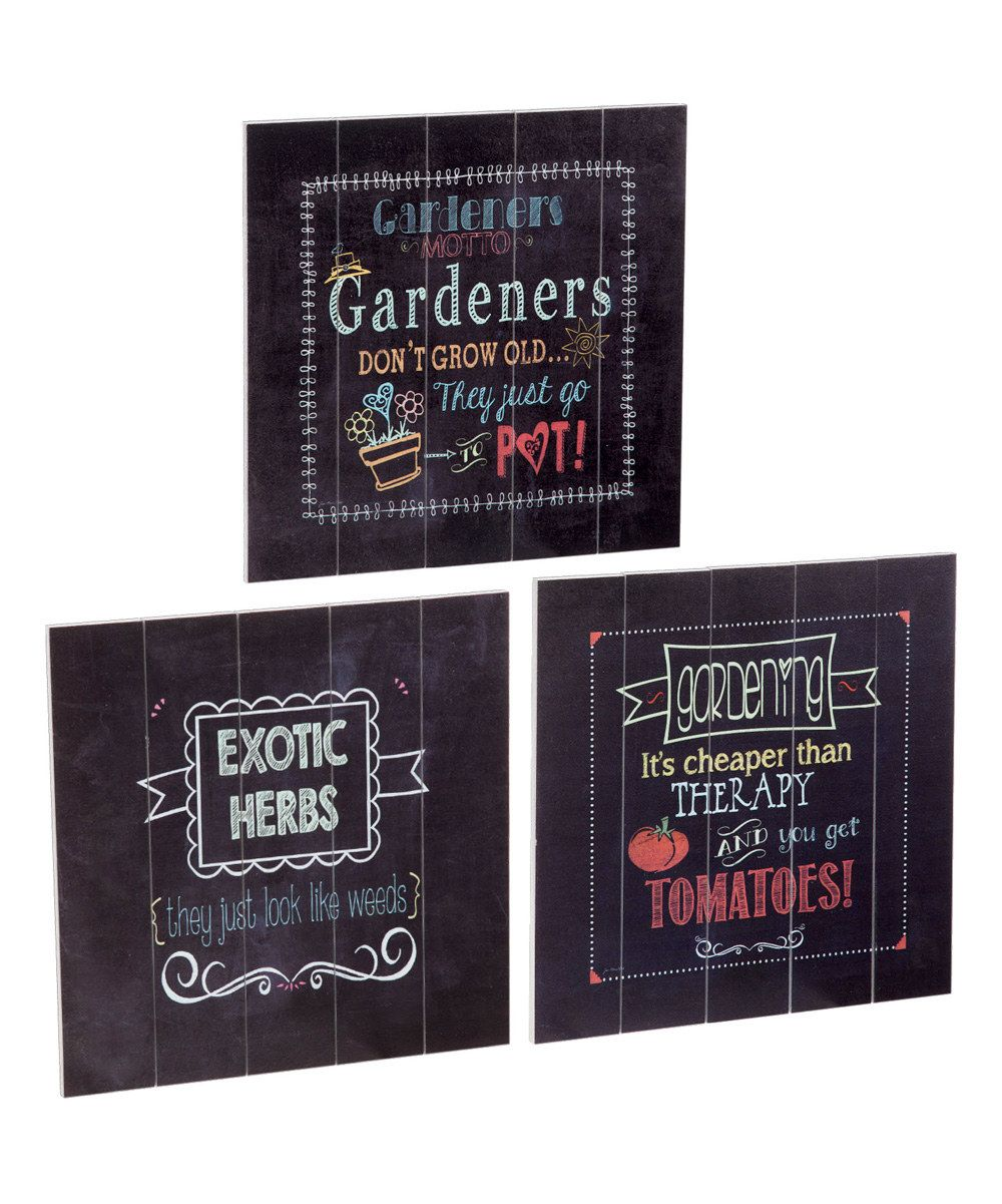 Look at this Outdoor Garden Plank Wall Décor on #zulily today!