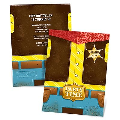 10 images about Cowboy Birthday – Wild West Birthday Invitations