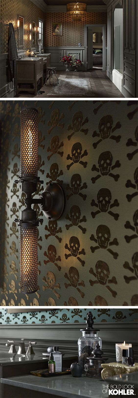 Victorian Edge Bathroom | Master bathrooms, Steampunk and Brown