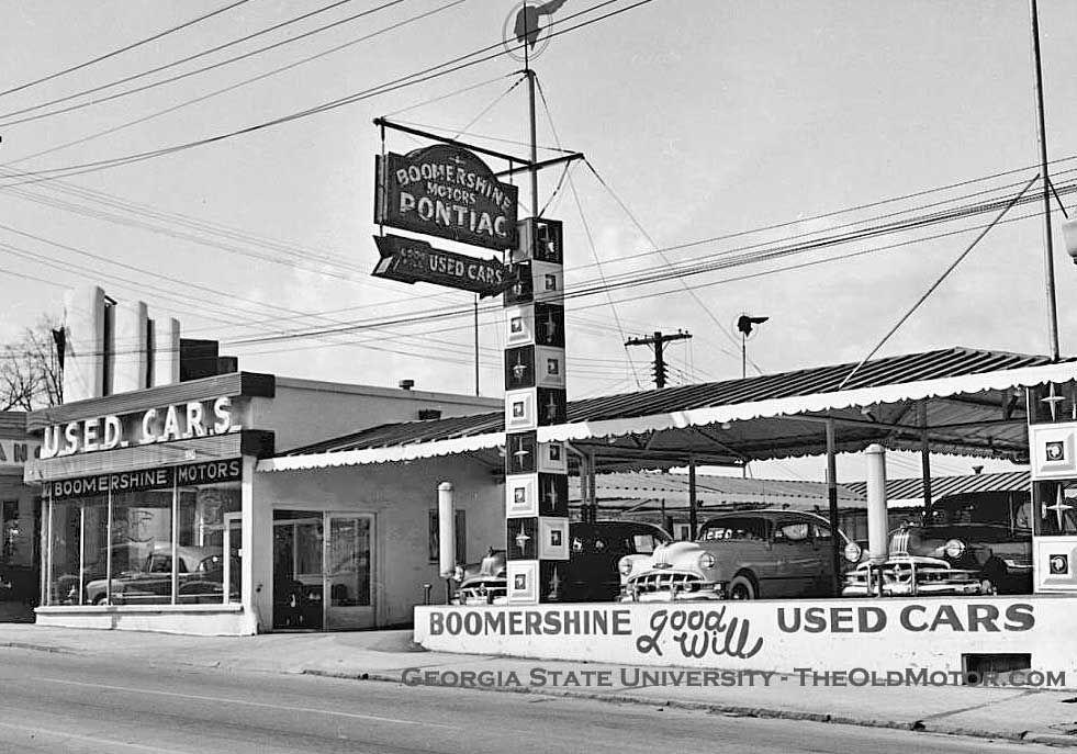 1953 boomershine motors company pontiac dealership