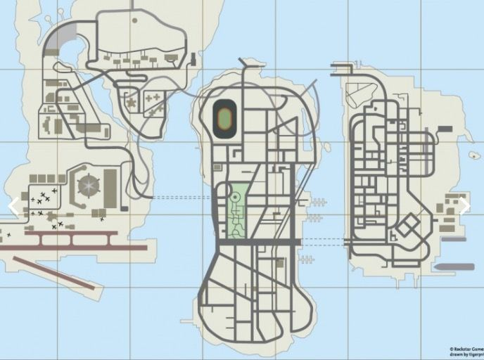 Map Of Liberty City Useful For Both Gta Liberty City Stories And Gta 3 Grand Theft Auto Gta Video Games