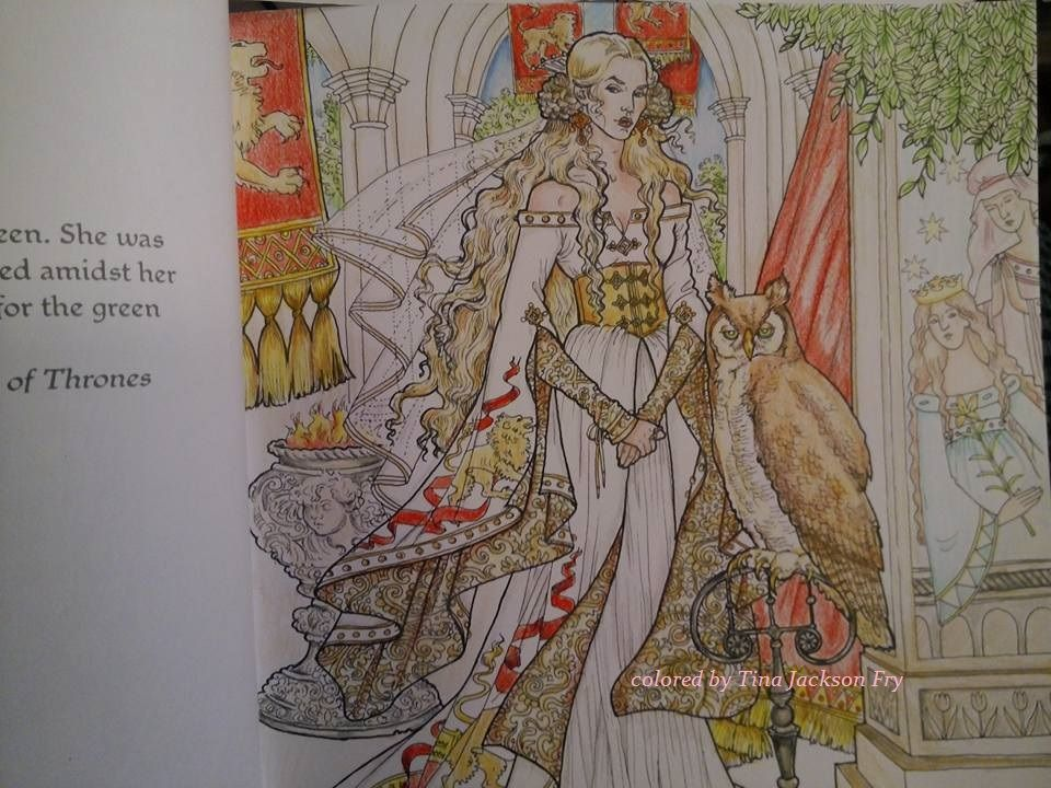 Game Of Thrones Coloring Book Used Prisma Pencils