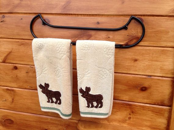 Canoe Towel rack great for lake house  cabin or by Adironstix, $39.00