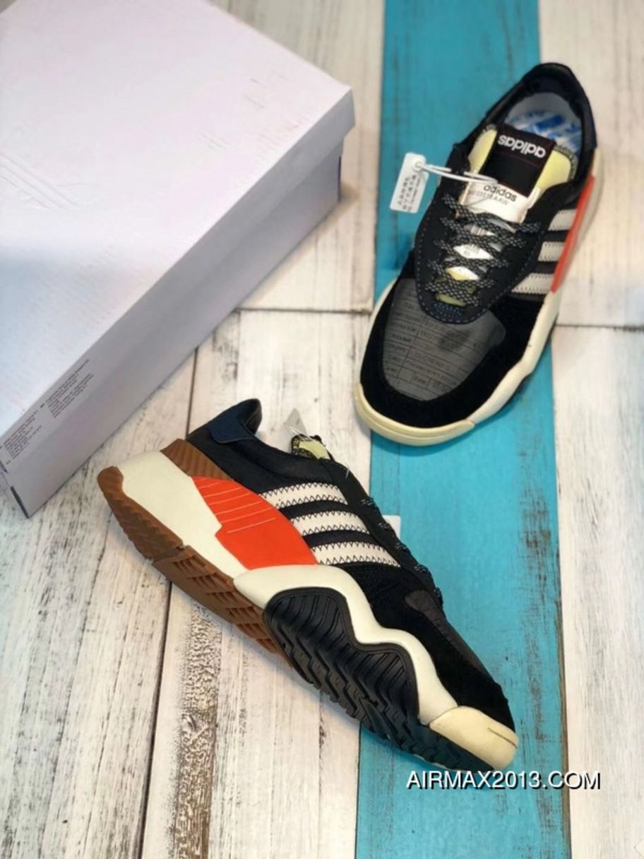 super popular 74c44 091f2 Adidas Alexander Wang AW Turnout Trainer AQ1237 Daddy Shoes Core Black   Chalk White  Bold Orange Copuon