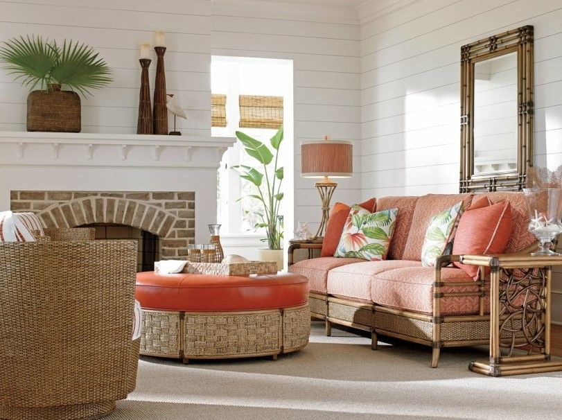 Tropical Decor Coastal Chic Or Key West Style Florida Style Furniture By Any Other Name Would Still Ev Living Room Orange Living Room Sets Living Room Green