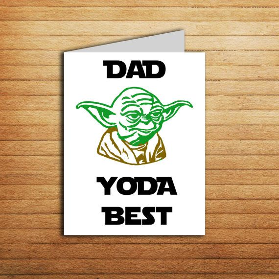 Star Wars Fathes day card for Dad Yoda Best Father's day gift from