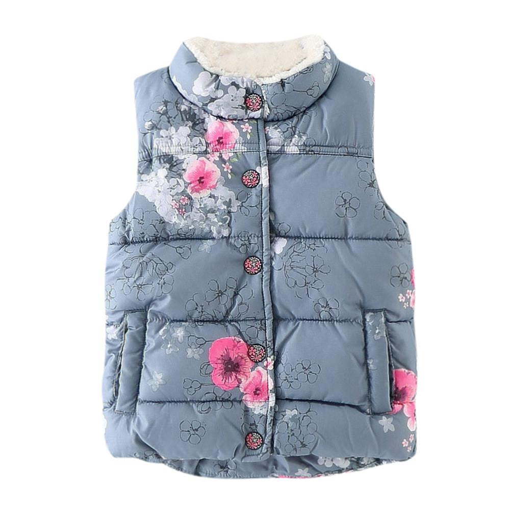 11d266843731 Kid Infant Floral Jackets Baby Toddler Warm Waistcoat Clothes Coat  Features: 1.It is made of high quality materials,Soft hand feeling, no any  harm to your ...