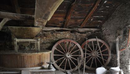Mühle_Vega_de_Pope_Asturien_Wagenräder