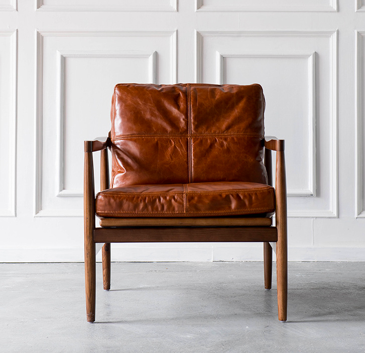 Stonehome Leather Armchair Lounge Chair Victor Verace Brown
