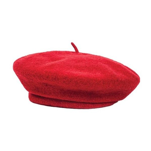 Brixton Red Audrey Beret (€51) ❤ liked on Polyvore featuring accessories, hats, brixton, red hat, beret hat, brixton hats and red beret