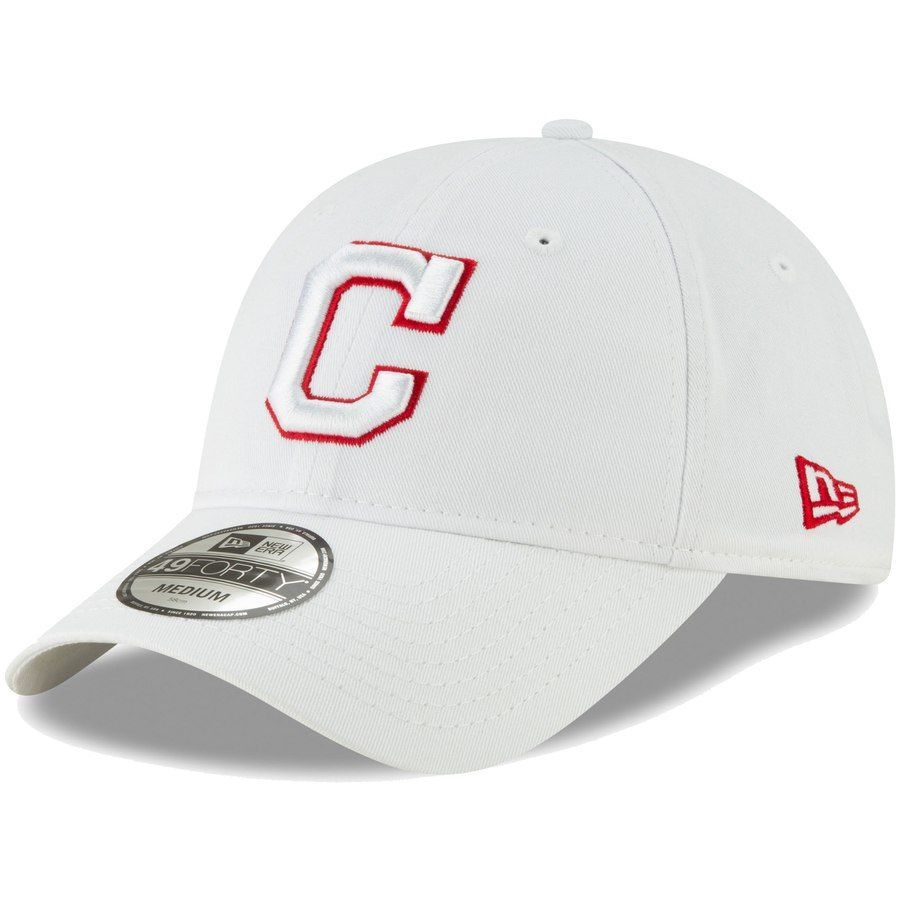 outlet store 680fb 91ae6 Men s Cleveland Indians New Era White Core Pop 49FORTY Fitted Hat, Your  Price   27.99