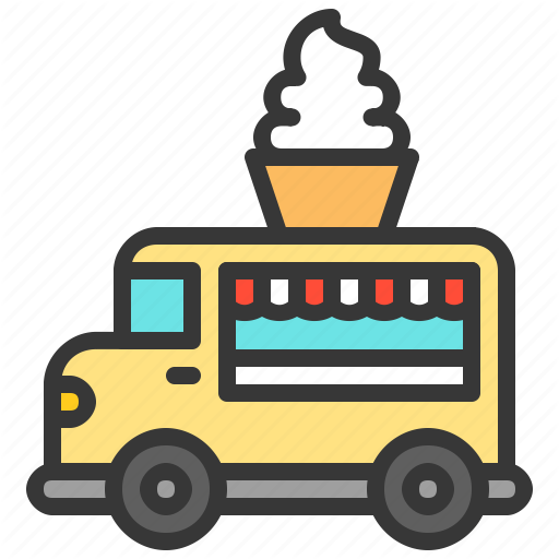 Food Shop Soft Serve Sweets Truck Vehicle Icon Download On Iconfinder Soft Serve Soft Icon