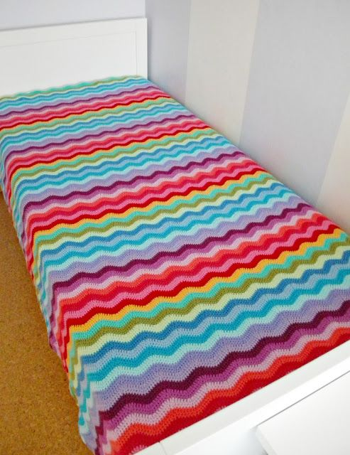 Ripple Blankie Crochet Afghans N Throws Pinterest Dekens