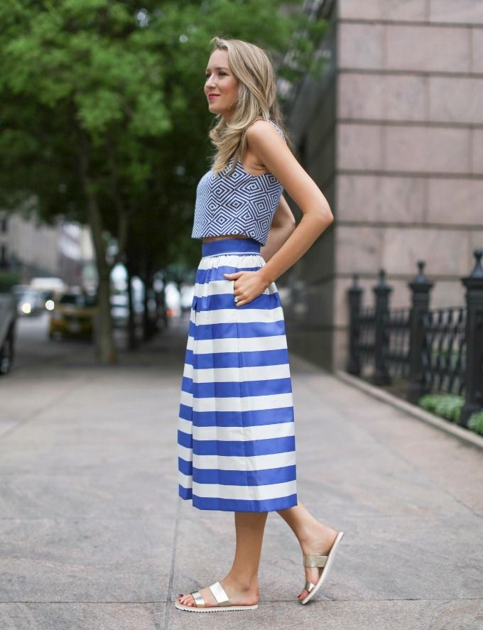 slip on sandals 2017 for women with crop top 2017 with high waist skirt 2017