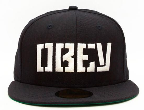 Stencil 59Fifty Fitted Cap By OBEY x NEW ERA | New Era | Pinterest