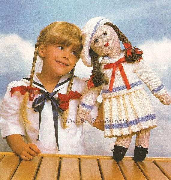Sailor Rag Doll Toy Knitting Pattern Download Knitted Cuties