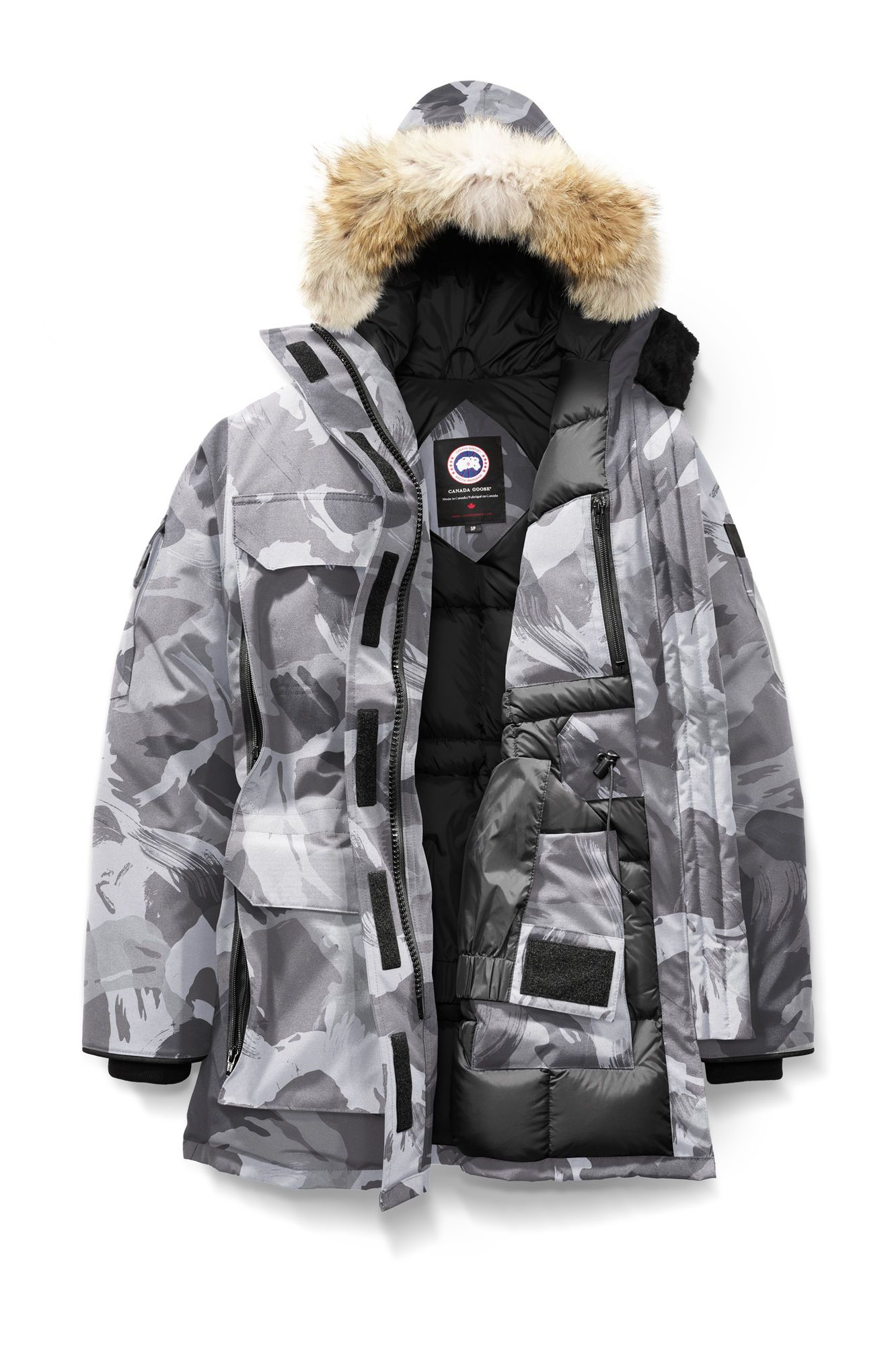 canada goose Raincoats Grey Camo